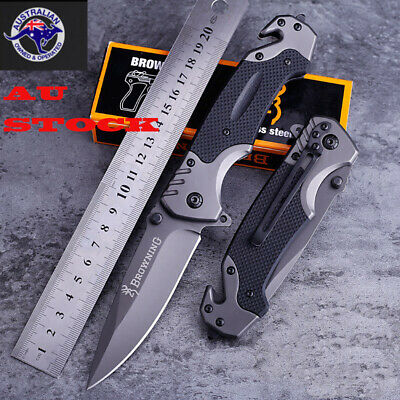 AU18.99 • Buy Browning Transformer Folding Knife Hunting Camping Tactical Outdoor Pocket AU