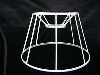 French Drum Wire Lampshade Frame  14  Base  • 10.50£
