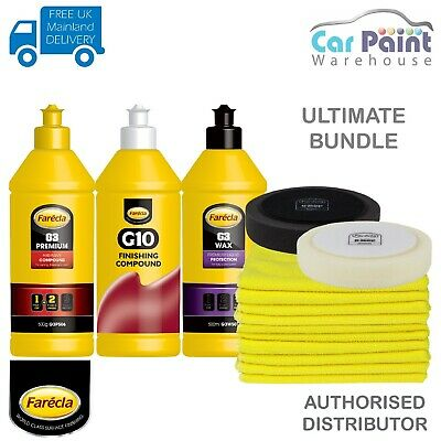 Farecla G3 Premium Compound, Wax, G10, Microfibre, 150mm Mops KIT Car Detailing • 44.98£