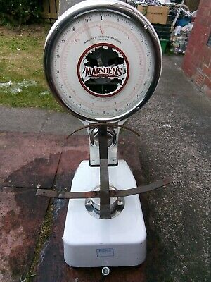 Marsden's Of London Sweet Shop /Grocery Store 9kg Scales ,  1950/60s, Model 8082 • 50£