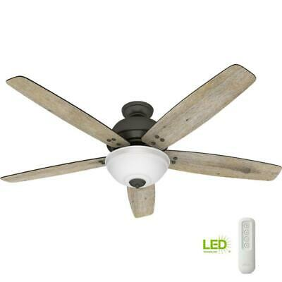 $159.99 • Buy NEW!!  HUNTER Reveille 60 In. LED Indoor Noble Bronze Ceiling Fan With Light