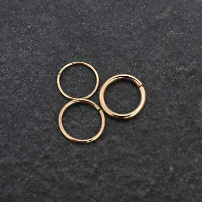 AU23.18 • Buy 9ct Gold Nose Ring - Ear, Nose, Septum, Rook, Daith, Helix