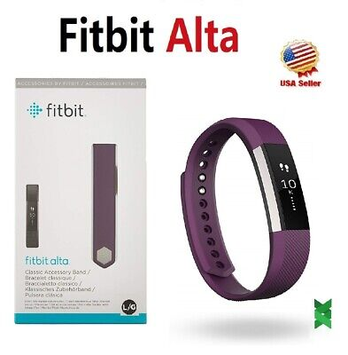 $ CDN77.96 • Buy Fitbit Alta FB406PMS Small Plum Fitness Activity Tracker Wristband Watch Smart