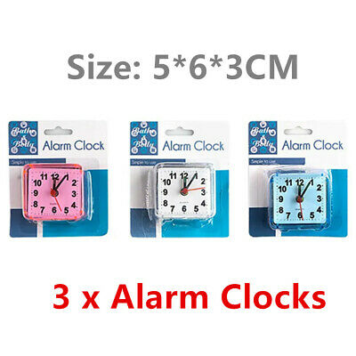 AU19.99 • Buy 3 X Alarm Clock Time Office Kids School Study Battery Powered Bed Table Desk