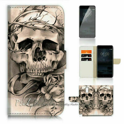 AU12.99 • Buy Skull TPU Phone Wallet Case Cover For Huawei Y9 Prime 2019 - 21692