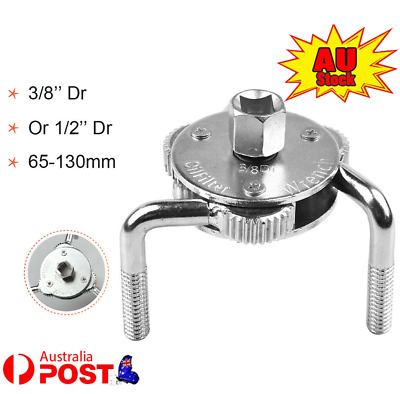 AU16.71 • Buy 3 Jaw 2 Way Dual Drive Oil Fuel Filter Remover Wrench Removal Tool 65 To 130mm