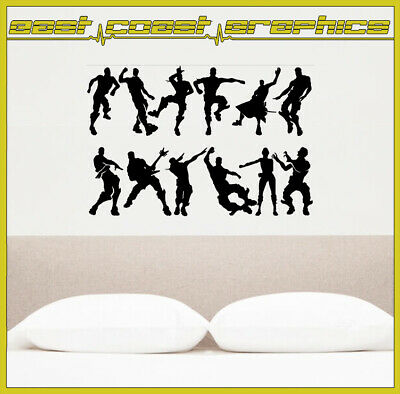 12 X Emotes Dancing Fortnite Sticker Decal Game Xbox PS4 Dab Floss • 4.59£