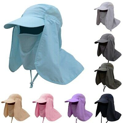 $9.99 • Buy Outdoor Anti UV Sun Protection Fishing Cap Neck Face Flap Hat Wide Brim Cover