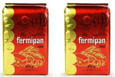 500g X2 Fermipan Red Instant Dried Yeast For Bread Bakers 1KG TOTAL • 9.99£