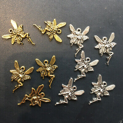 £1.99 • Buy Fairy Charms X 10 Mixed Gold & Silver Pagan Wiccan Jewelly Making Charm -new