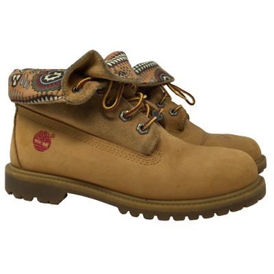 £38.93 • Buy Timberland Womens Boots Roll Top Wheat Leather Stye 8259A Tan Soft Toe Size 7W