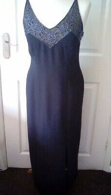 £10.50 • Buy Worn Once! Stunning Principles Black Lined Beaded Dress Size 12