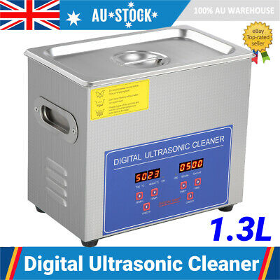 AU68.69 • Buy 1.3L Stainless Digital Ultrasonic Cleaner Heated Heater Timer Cleaning Tank AU