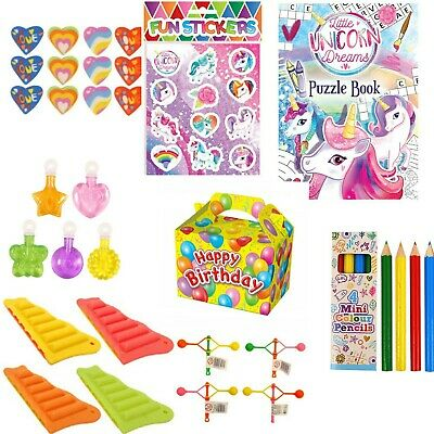 £1.80 • Buy Unicorn Kids Pre Filled Childrens Girls Party Boxes For Birthday Wedding & Party