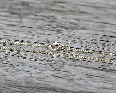 £34.99 • Buy 9ct Gold Fine Diamond Cut Curb Chain Necklace (0.7mm / 16 Inches / 0.58g)