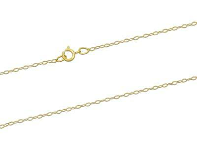 9ct Gold Trace Chain Necklace (1.2mm / 16 Inches / 0.40g) • 29.99£