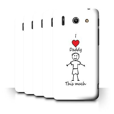 AU11.90 • Buy STUFF4 Back Case/Cover/Skin For Huawei Ascend G510/I Love My Mummy Daddy