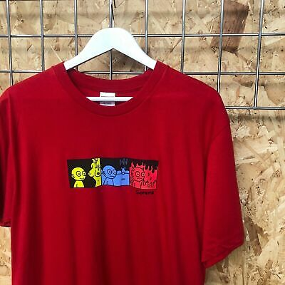 $ CDN76.51 • Buy Supreme Life Tee T-shirt - L LARGE - Red DS New FW19 Cartoon Bogo Box Logo