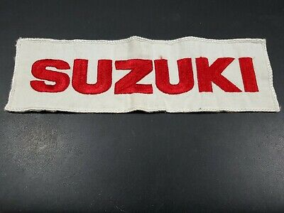$9.99 • Buy Vintage Large Red White Suzuki Patch Free Shipping