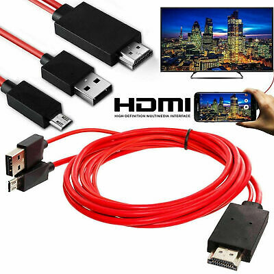 $ CDN8.03 • Buy MHL Micro USB To HDMI 1080P HD TV Cable Adapter For Samsung Android Phone
