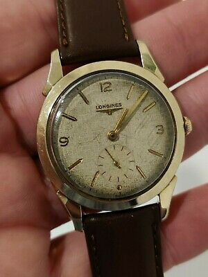 $ CDN264.22 • Buy Vintage Longines Manual Wind Linen Dial 10k Gold Filled Watch Cal 23z Works
