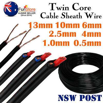 AU59.99 • Buy Twin Core Cable Sheath Dual Wire PVC Auto Campers Trucks Caravan Van Boat Solar