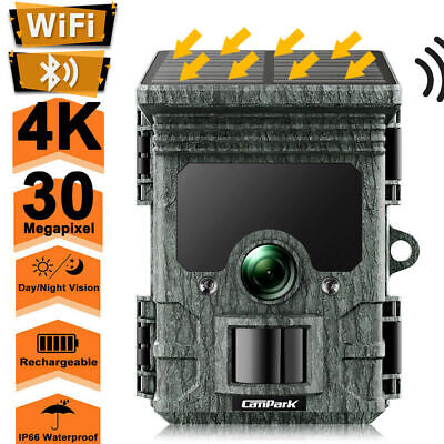 £119.99 • Buy Campark 2K Rechargeable Trail Camera 24MP WiFi Solar Wildlife  Hunting Game Cam