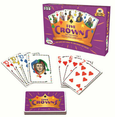 AU29.99 • Buy 5 Suites Five Crowns Cards Game Classic Original Xmas Family Party Rummy Style