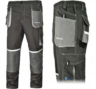 Work Trousers Mens Cargo Combat Heavy Knee Pads Pockets Euro Classic • 15.99£