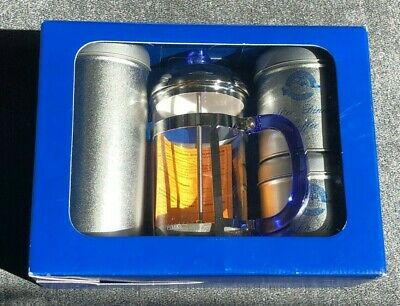 Large Cafetiere And 3 Storage Tins Set • 15£