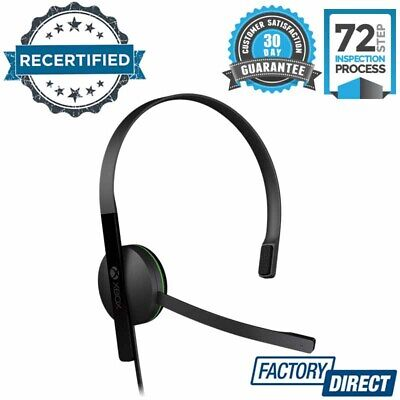 AU22.95 • Buy Official Genuine Xbox One Chat Headset Headband Wired Microphone Audio Pc Gaming