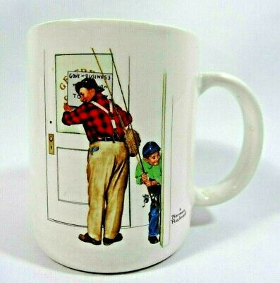 $ CDN24.88 • Buy Norman Rockwell Museum 1987 Collection Mug  Closed For Business  Fishing Theme