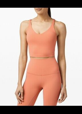 $ CDN50 • Buy NWT! Lululemon Align Tank Size 4❤️Rustic Coral ❤️Cropped Top Bra- SAME DAY SHIP