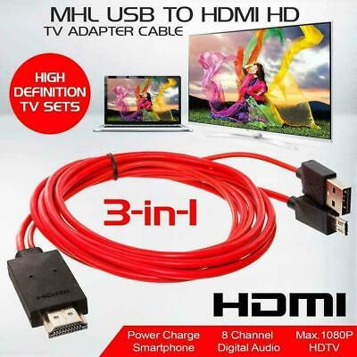 $ CDN8.64 • Buy Cell Phone Micro USB To HDMI MHL 1080P HD TV Cable Android For Samsung D5J4
