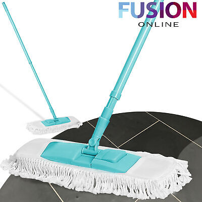Extendable Flat Mop 100% Cotton Cleaner Floor Sweeper Wet Dry Wooden Laminate • 6.99£