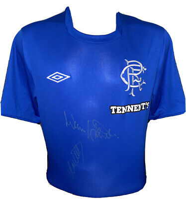 Signed Rangers Retro 1972 Shirt By Colin Stein & Willie Johnston • 99.99£