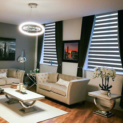 £226.04 • Buy Motorised Day Night Zebra Vision Blinds Made To Measure Dimout Fabrics 4 Colours