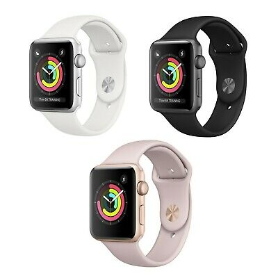 $ CDN274.63 • Buy Apple Watch Series 3 38MM (GPS + Cellular) 4G LTE Gold Space Gray Silver