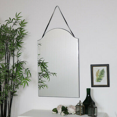 Arched Frameless Wall Mirror Vintage Art Deco Shabby Chic Bedroom Bathroom Decor • 60.77£