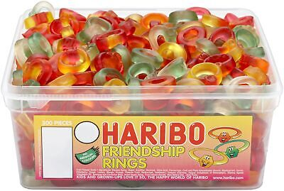 Haribo Friendship Rings Tub 300 Pieces Pick N Mix Sweets • 7.99£