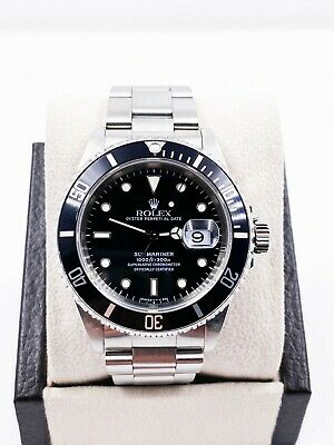 $ CDN10683.72 • Buy Rolex Submariner 16610 Black Date Stainless Steel MINT
