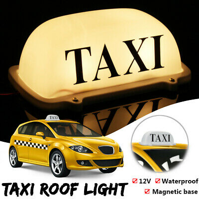$13.79 • Buy Yellow Light Magnetic Base Waterproof Taxi Roof Top Car Cab LED Sign Lamp 12V