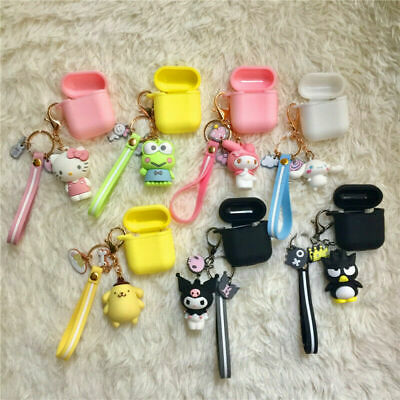 $ CDN10.55 • Buy For Apple AirPods 1/2 Charging Case Silicone Cute Cover With Keychain Doll Strap