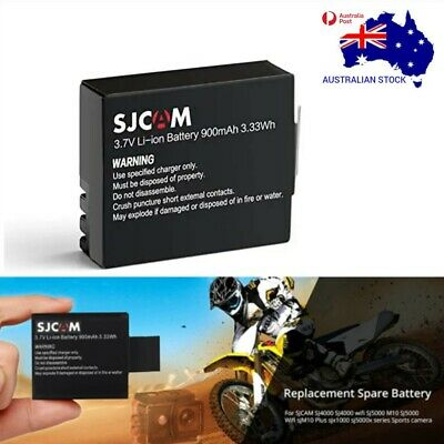 AU22.95 • Buy 3.7V 900mAh Li-ion Battery For SJ4000 & Other Action Cameras AU Sellers NEW