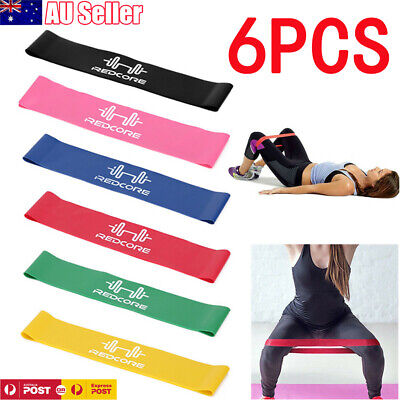 AU13.99 • Buy 6PCS Resistance Bands Power Heavy Strength Exercise Fitness Gym Crossfit Yoga AU