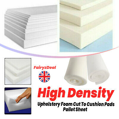 £3.99 • Buy Upholstery Foam Sheet Cut To Size High Density Any Thickness Size