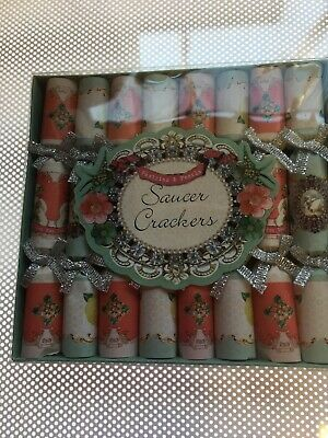 8x TALKING TABLES PARTY MINI SAUCER CRACKERS PARTYWARE WEDDING FAVOURS HEN - 985 • 3.49£
