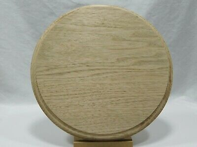 $23.85 • Buy Unfinished Wooden Round Plaque Stand Base Sign 10 X 3/4  Butternut Wood