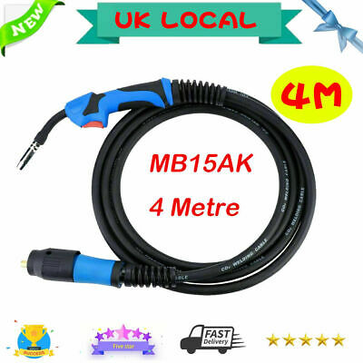 MIG Welding Torch MB15AK Euro Standard EU Connector 4M Conversion Kit For Welder • 25.99£
