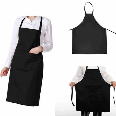 £5.99 • Buy Black Chef Apron Kitchen Waterproof Pocket Cooking Catering Butcher Unisex Gowns